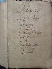 IMPORTANT MS PROTOCOLE COLLEGE ELECTORAL DE RATISBONNE, 1667. In-folio, 262 ff.