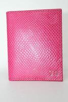 ASPINAL OF LONDON Calf Raspberry Lizard & Pale Blue Suede  ID & Travel Card Case