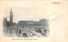 BR61145 clock tower and westminster bridge chariot   london  uk