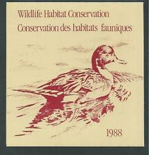 CANADA, # CN-4  WILDLIFE CONSERVATION STAMP BOOKLET 1988, PINTAILS