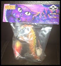 KAIJU FLOCKED HALLOWEEN NEGORA CAT CANDY CORN BIG FISH MAX TOY COMPANY NIB RARE
