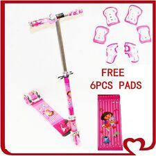 Pink Dora Push Scooters Kids Children Foldable LightWeight 3 Wheel Toy Gift Ride