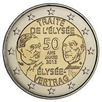 """FRANCE 2 Euros 50 ans du Traité de l""""Elysée UNC"""