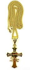 "New 2PAC 4Ever Cross Pendant 6mm&36"" Cuban Link Chain Hip Hop Necklace OP81"