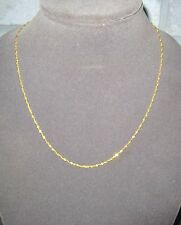 """LQQK Delicate Real 22k Yellow Gold Singapore Chain Necklace 20.5"""" long Women"""