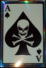 ACE OF SPADES DEATH CARD REFLECTIVE WINDOW MILITARY VEHICLE CAR DECAL STICKER