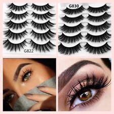 5Pairs 3D Mink Hair False Eyelashes Thick Long Lashes Wispy Fluffy Eye Lashes A+