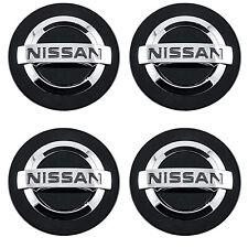 Set Of 4 Black Chrome Logo Car Alloy Rim Wheel Center Hub Cap For 54mm 2 18