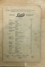 lister 9-1 18-2 27-3 38-4 diesel engines instructions & parts list book vintage