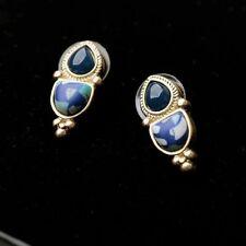 ANTHROPOLOGIE BEAUTIFUL DELICATE BLUE STUD EARRINGS - NEW