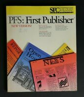 COMPUTER VINTAGE BOOK PFS: FIRST PUBLISHER BOOK SPC SOFTWARE PUBLISHING CORP