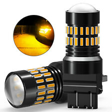 Pair 3156 3157 Led Turn Signal Parking Drl High Power Amber Yellow Light Bulbs(Fits: Neon)