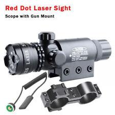 Red dot Laser sight rifle gun scope w/ Rail & Barrel Mounts Cap Pressure Switch