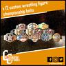 12 x Custom Wrestling WWE Championship Belts for Mattel/Jakks/Hasbro Figures