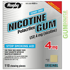 Rugby Nicotine Gum 4mg Uncoated Original  1 box 110 pieces
