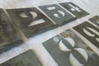 Antique French Zinc Numbers 1 - 10 Stencil Set For Printing Projects