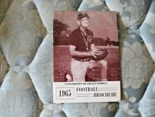 1965 CHATTANOOGA MOCCASINS FOOTBALL MEDIA GUIDE Yearbook SCRAPPY MOORE Program