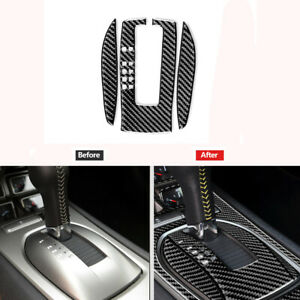 For Chevrolet Camaro 2010-2015 Carbon Fiber Gear Shift Panel Cover Trim Sticker