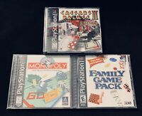 Gaming Lot (Monopoly, Caesars Palace 2, FGP) PS1 CIB Black Label Edition