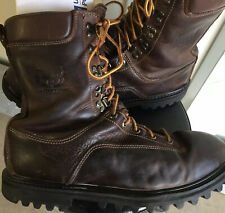 Cabelas Outfitter Gore Tex Leather Hunting Field Boots Mens 13 Thinsulate Brown