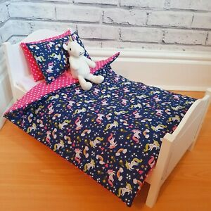 18 INCH DOLL UNICORN BEDDING SET - For Our Generation, AG, DAF, Baby Annabelle