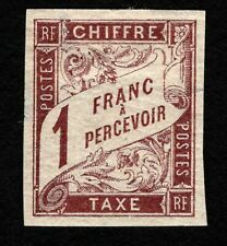 OPC 1894 French Colonies 1fr Postage Due Sc#J22 MH Thinned 41684