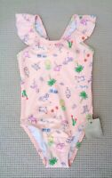 BNWTS NEXT Baby Girls Pink Multi Character Swimsuit Swimming Costume 3-6 months