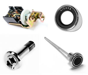 NEW! 1970 Ford Mustang Headlight Switch W/ Bezel Retainer Knob Complete Kit