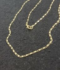 18K Gold Filled Unique Italian Smooth Snail Link 18ct GF Necklace Chain 16""