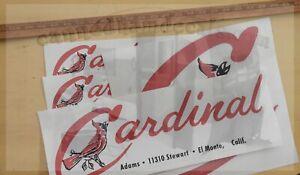 Cardinal Vintage Travel Trailer El Monte, CA. Repro Decals Pick Your Perfect Set
