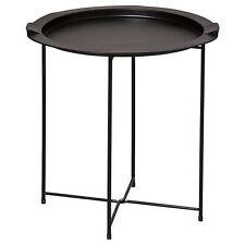 NEW Metal Folding Side Table Black