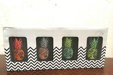Glass Highball Set of 4 Starstruck Pineapple Design Home Essentials Glassware