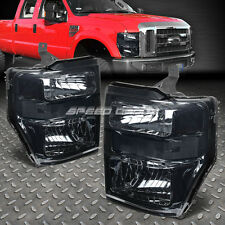 SMOKED HOUSING HEADLIGHTS+TINTED SIGNAL FOR 08-10 SUPERDUTY F250/F350/F450/F550