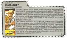 1989 Gnawgahyde v1 FILE CARD #2 Cobra Dreadnok gray filecard original GI Joe JTC
