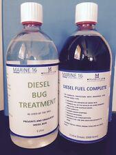 Marine 16 Diesel Bug Treatment & Diesel Fuel Complete 1 Litre Twin Pack