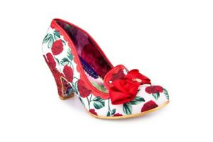Irregular Choice NEW Kanjanka red rose floral glitter high heel shoes UK sz 3-9