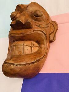 Sri Lankan Traditional Wall Decor Wooden Handmade Hanging Stunning Tiki Mask