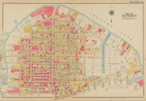 1908 GREENPOINT BROOKLYN NY ST. ALPHONSUS  & ST. ANTHONY SCHOOL PS 22 ATLAS MAP