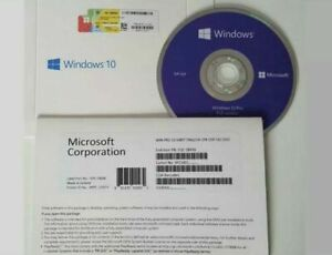 Pack of x 10 Microsoft Windows 10 Pro 64 Bit NEW Sealed DVD and License English