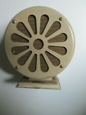 Vintage Untested Retro Art Deco ATLAS SOUND CORP. TW-9 METAL SPEAKER w/ FABRIC