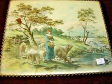 Rectangular Shaped Flue Cover: Pastoral Scene. 5821