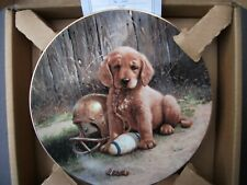 Hamilton Wide Retriever Collector Plate w COA Golden Puppy Jim Lamb Good Sports