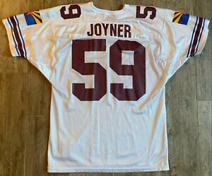 Vintage Wilson Arizona Cardinals Seth Joyner White #59 Football Jersey-Sz 46