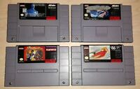 Super SNES Lot of 4 games Power Moves Batman Forever Rise Robots the Rocketeer