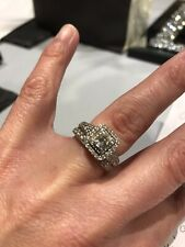 Half Eternity Platinum And Diamond Wedding And Engagment  Ring Set