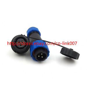 SD16 3pin Waterproof Connectors,IP68 Electrical Power LED Bulkhead Connector Kit