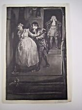 1884 Edwin Austin Abbey: Illustration for 'She Stoops to Conquer' - artist proof