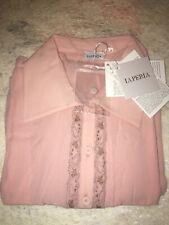 La Perla Liaison Soft Pink Silk Nightdress M Nightgown Sleepshirt