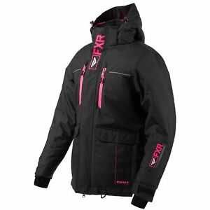 FXR Excursion Ice Womens Snow Jacket Black/Electric Pink