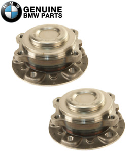 New Genuine Pair Set of 2 Front Wheel Hub Bearings For BMW F10 F12 528i 640i